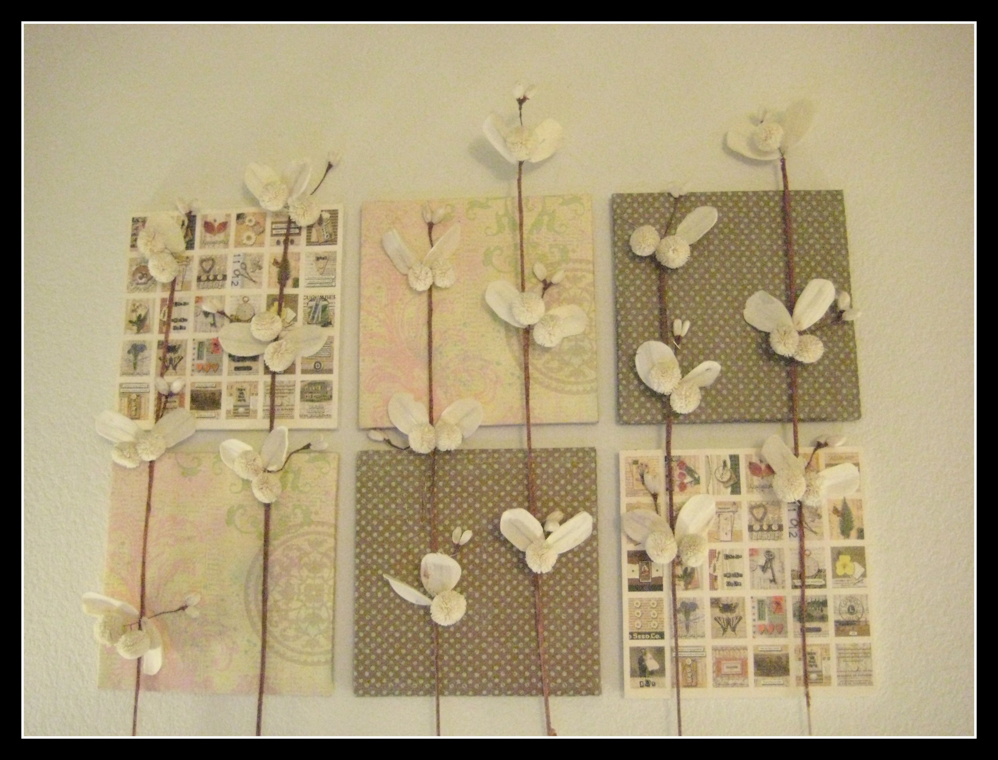Easy Wall Art With Foam Boards, Scrapbook Paper And Paper
