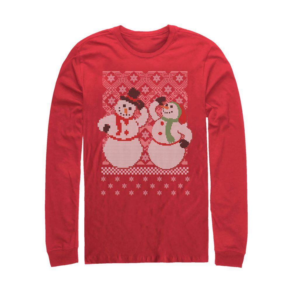 7f3e6c75d87 For sale online Men s Jolly Snowmen Ugly Christmas Sweater Red Long Sleeve  T-Shirt for Christmas Gifts Idea Shop