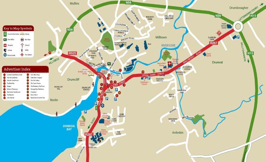 Road Map Of Ireland Pdf.15 Donegal Map Pdf Irlanti Donegal Ireland Tourist Information