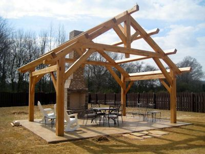 Timber frame gazebos bridges pavilions outdoor structures for Timber frame bridge