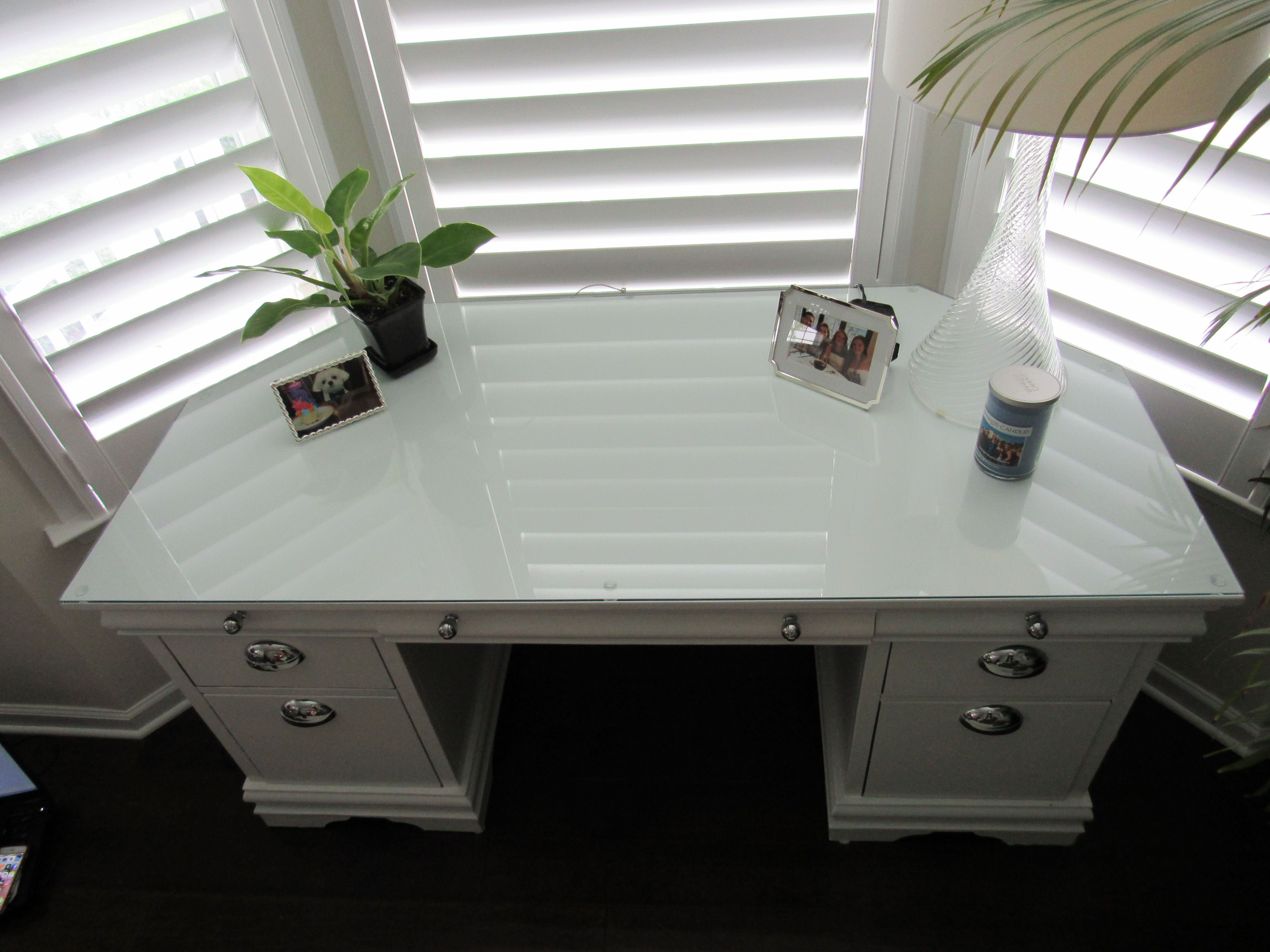 Old Desk Becomes A New Desk And Fits Perfectly In This Bay