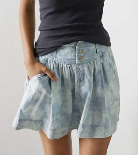 Aeo Cloud Washed Chambray Skirt Skirts Womens Skirt