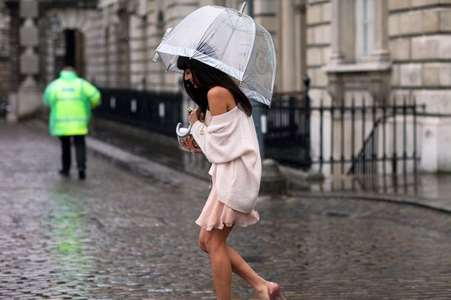 Gloomy, rainy day here in the CLE and umbrellas are on the mind at www.emikovaughn.com  image via Glam & Fab Chameleon