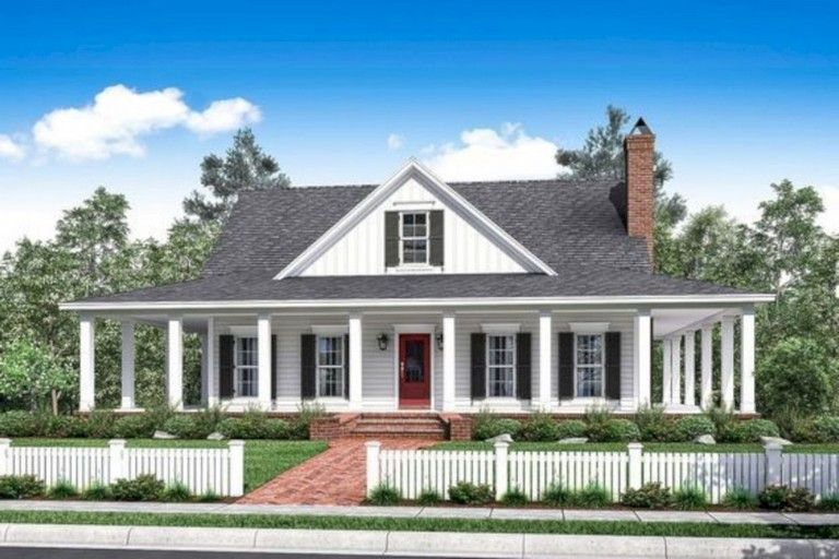 30 Top Country Farmhouse With Wrap Around Porch Country Style House Plans House Plans Farmhouse Porch House Plans