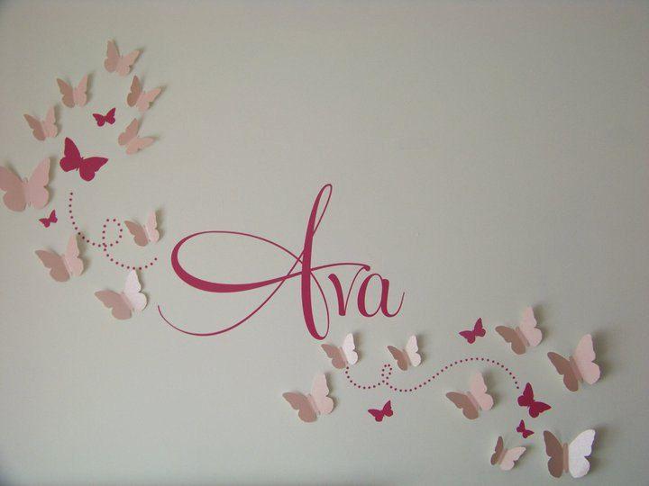 Baby Room Wall Art 3d paper butterfly, wall art, 3d butterflies, nursery wall art