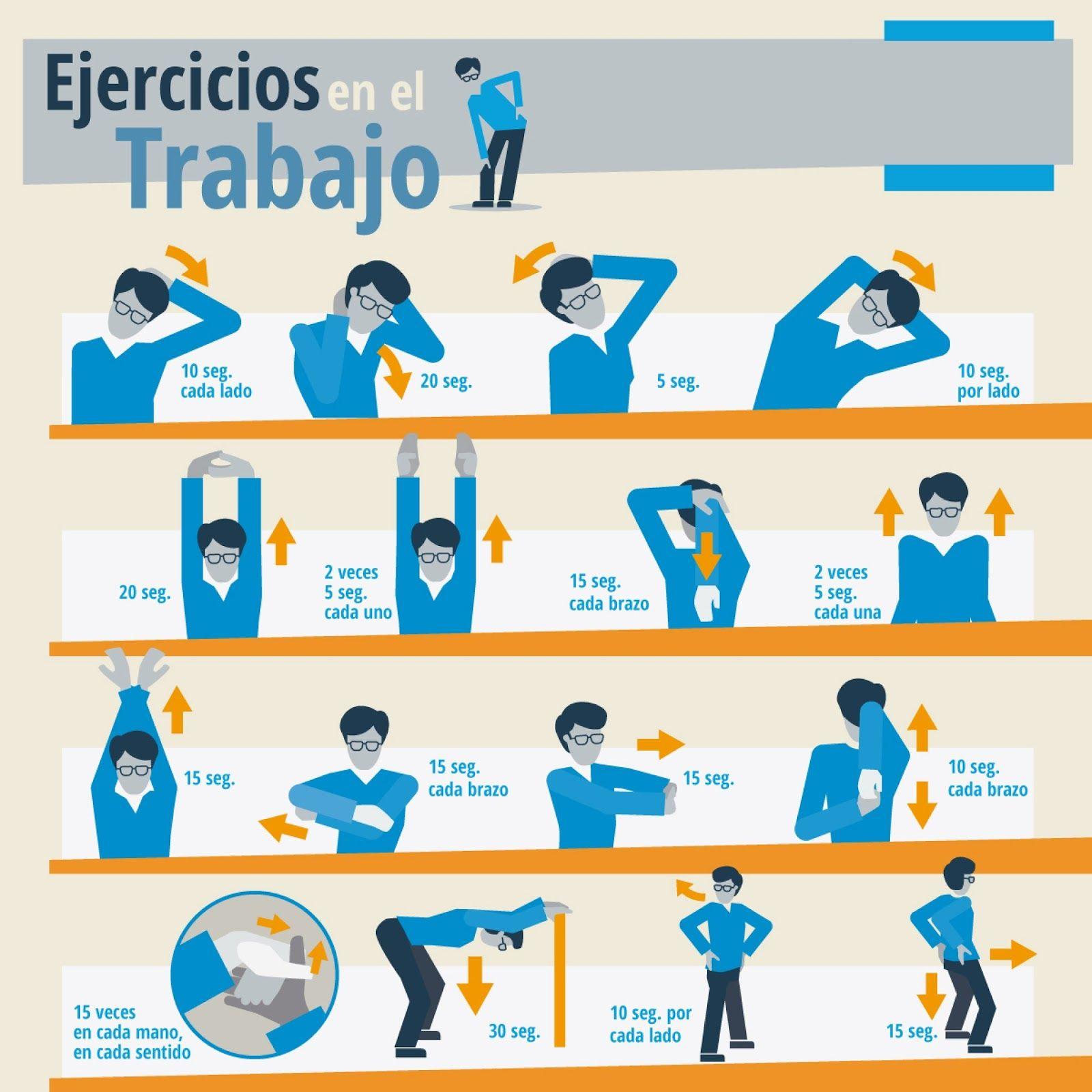 Resultado de imagen para ejercicios pausas activas for Estiramientos oficina