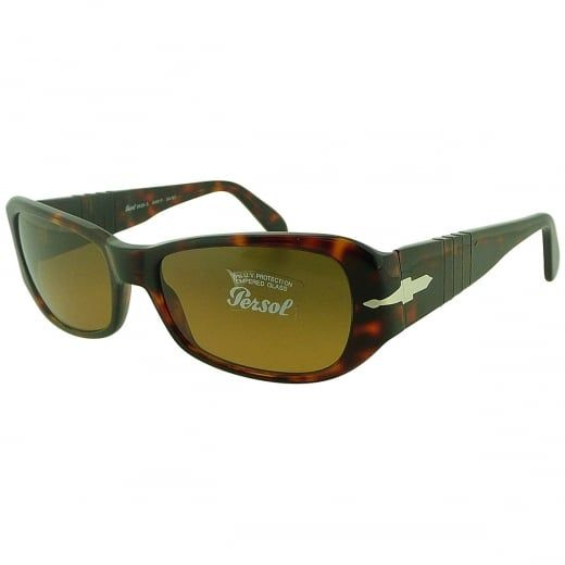 27a8a10432 Persol Ladies Havana Sunglasses With Meflecto Flexi Stem And Bronze Crystal  Lenses. Model Number