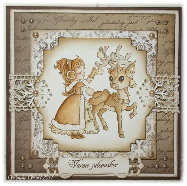 Ashton with reindeer, North Star Stamps - text