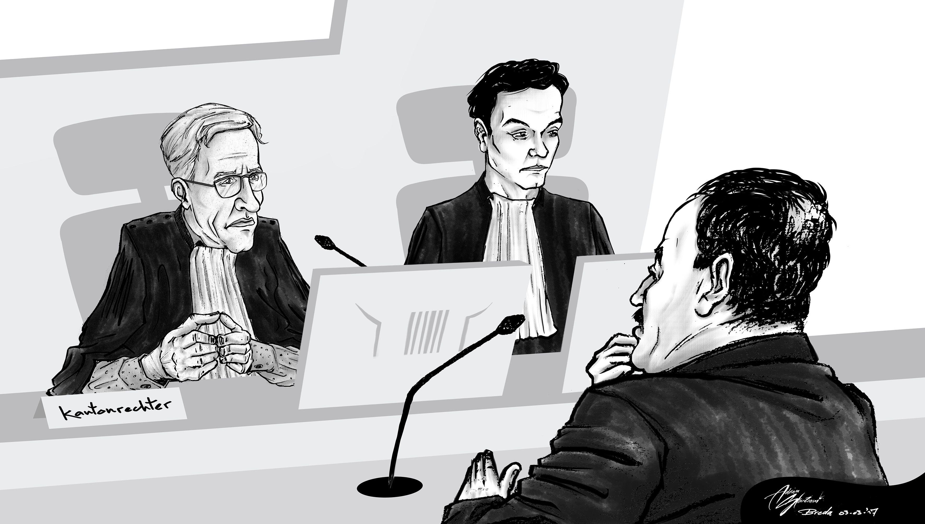Courtroom illustration, Breda [03-03-2017]