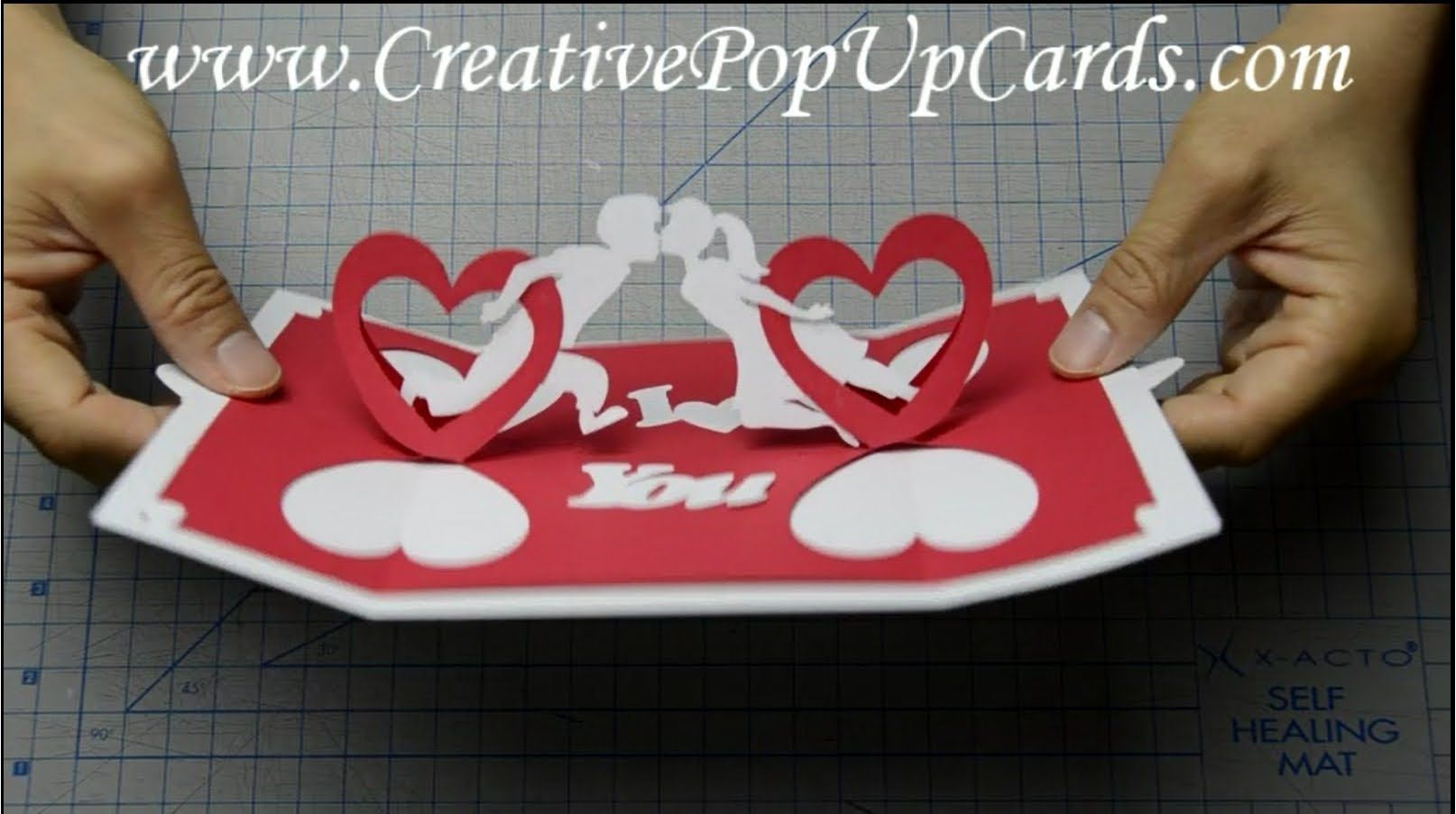 How To Make A Valentines Day Pop Up Card Twisting Hearts