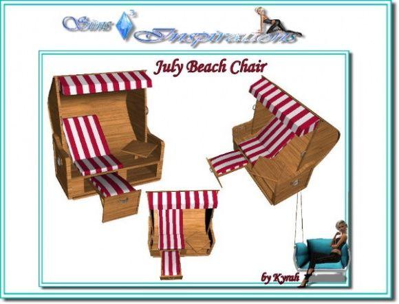 Sedia A Sdraio The Sims.Sims 3 Finds July Beach Chair Sims 3 3 3 Sims Sims 3 E