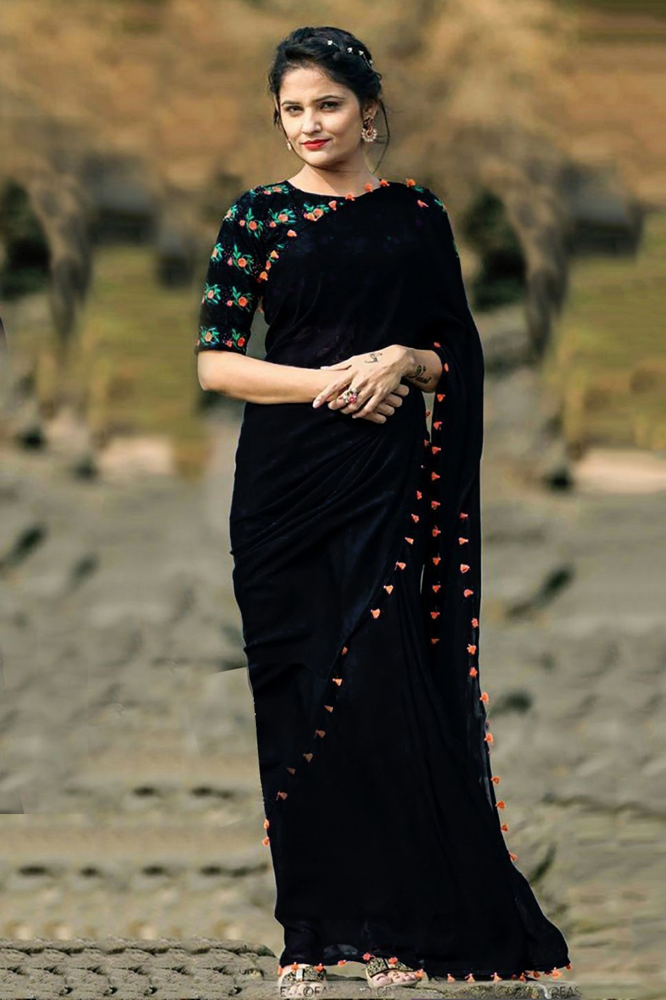Clothes, Shoes & Accessories Women's Clothing Creative Designer Sarees Pakistani Indian New Bollywood Wedding Party Asian Saris Dress Cheapest Price From Our Site
