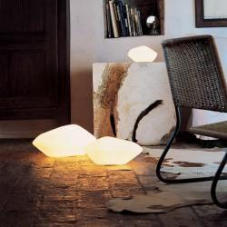 Oluce Stone of Glass Tisch- und Bodenleuchte, Stone of Glass 203 Oluce