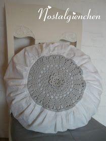 Nostalgienchen Anleitung Rundes Häkelkissen Crochet Pinterest