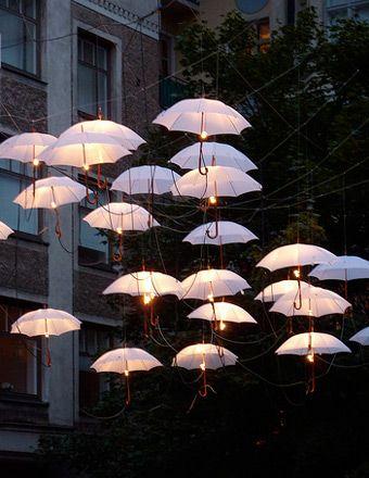 Outdoor Umbrella Pendant Lighting