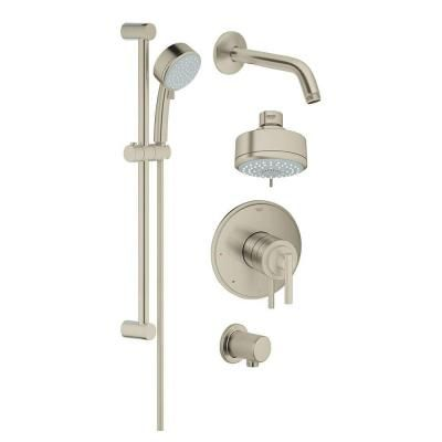 Grohe Grohflex Single Handle Tub And Shower Faucet With Hand