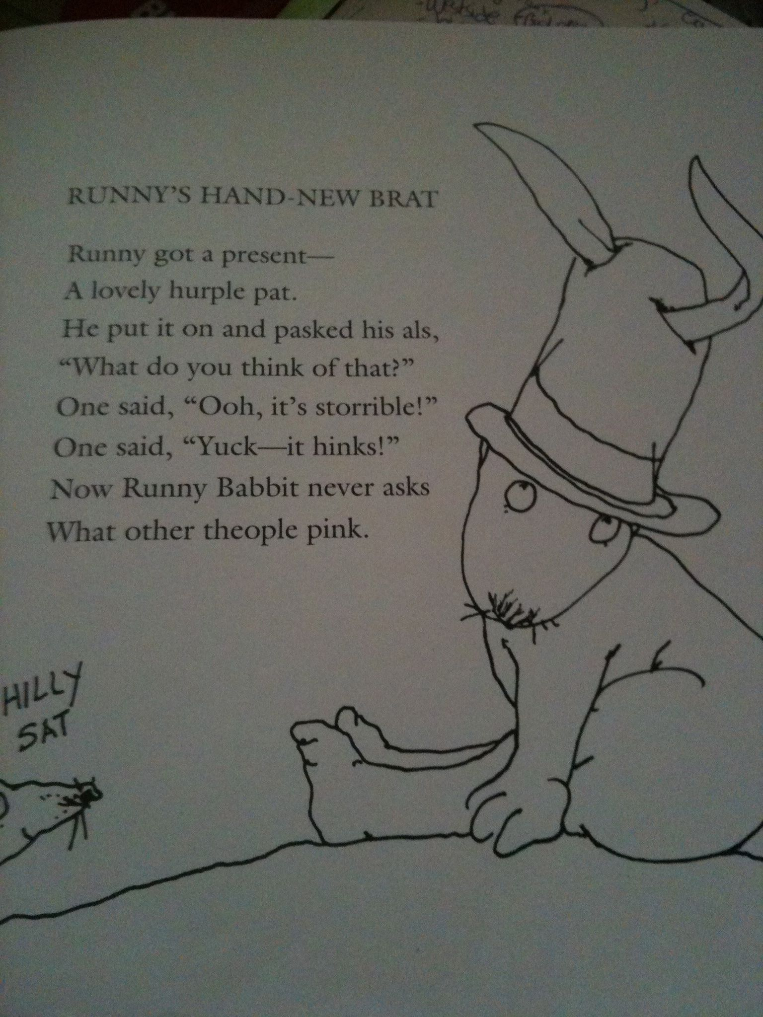 Runny Babbit Is Geally Rood Educationdiva Spoonerisms
