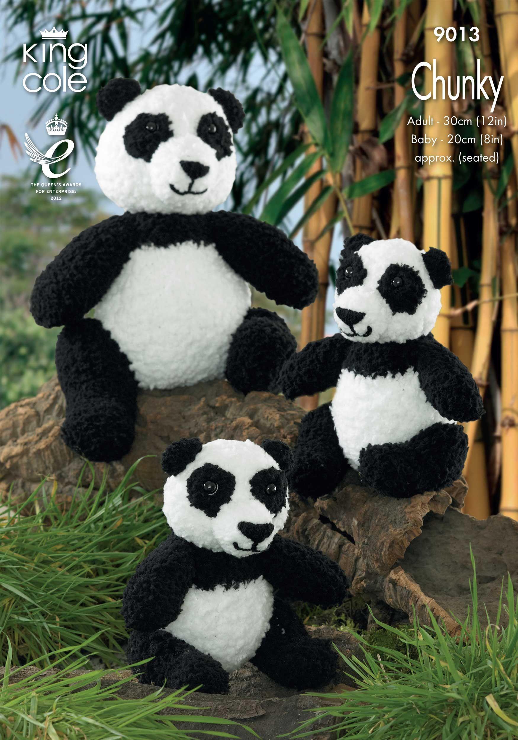 Knitted Panda Toys - King Cole   Haken   Pinterest