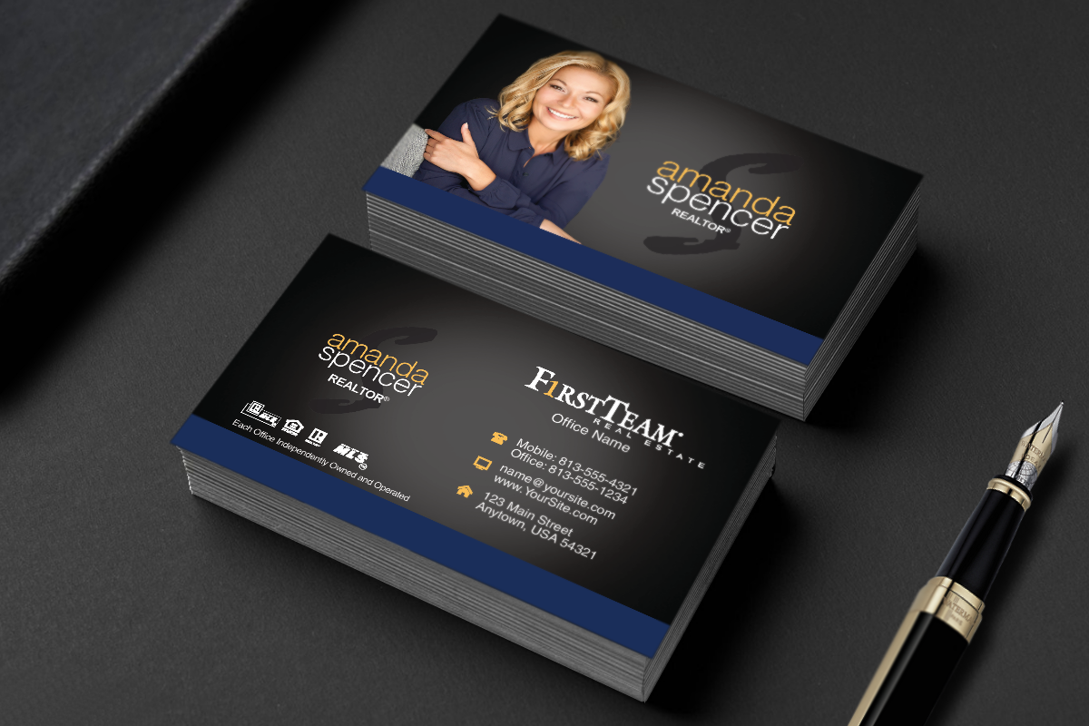 First Team Business Cards Are Here Realtor Firstteam Realestate Realtors Rea High Quality Business Cards Real Estate Business Cards Business Cards Online