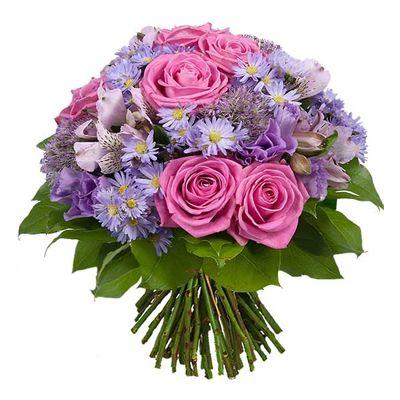 Bouquet De Fleurs Aquarelle Com Monochrome Parme
