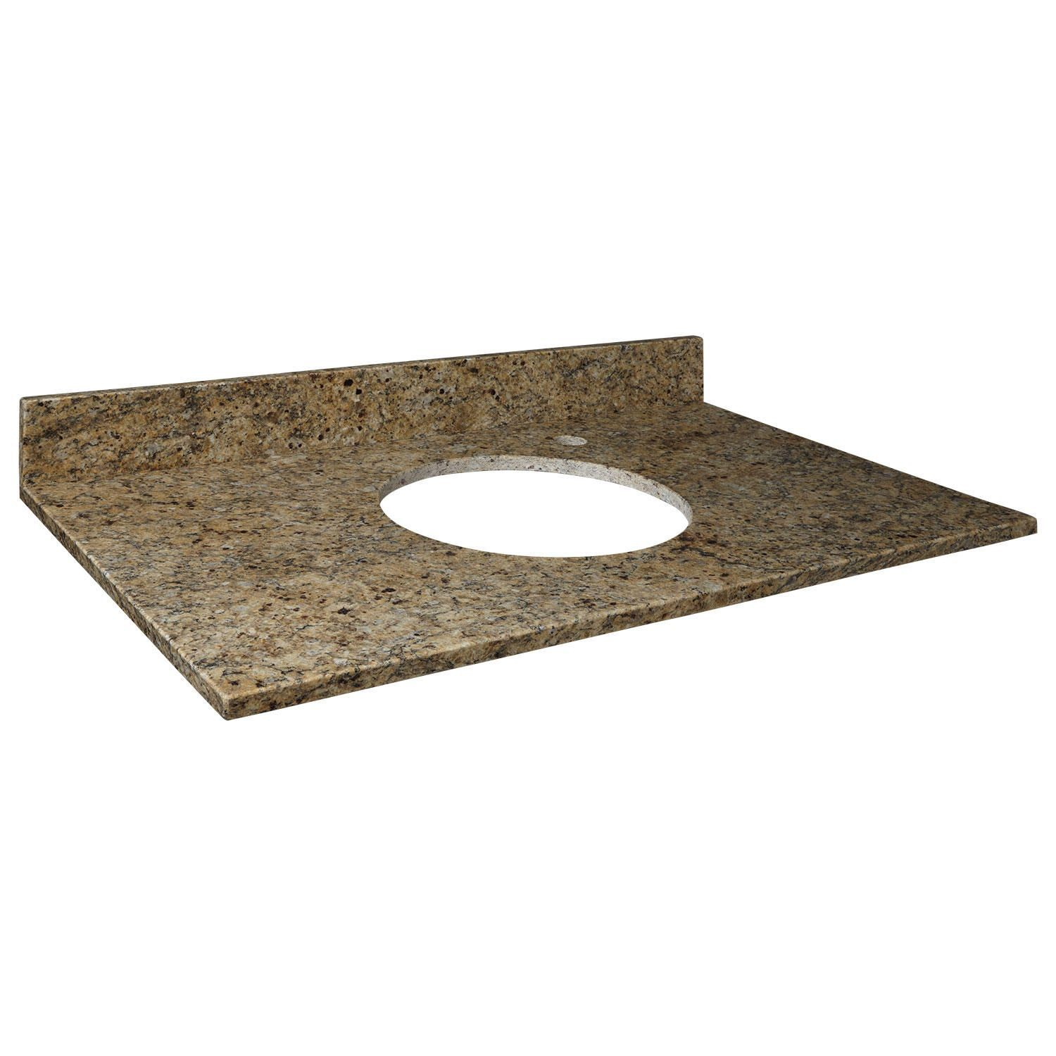 37 X 22 Granite Semi Recessed Sink Top Right Side Faucet Hole