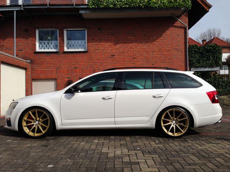 Gold Wheels On A White Car Off Topic Chat Briskoda Net Skoda