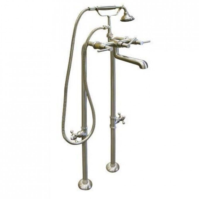 Modern Freestanding Tub Faucet With Hand Shower Supplies Valves
