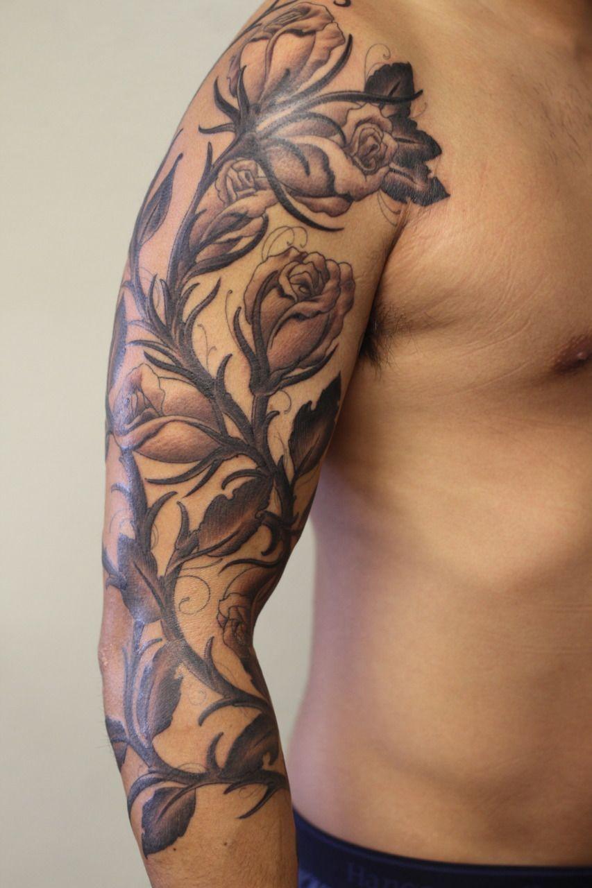 Pin by Xavier Taylor on Tattoo Ideas Vine tattoos, Rose