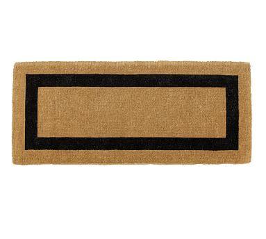 picture frame wide doormat 22 x 57 black outdoor