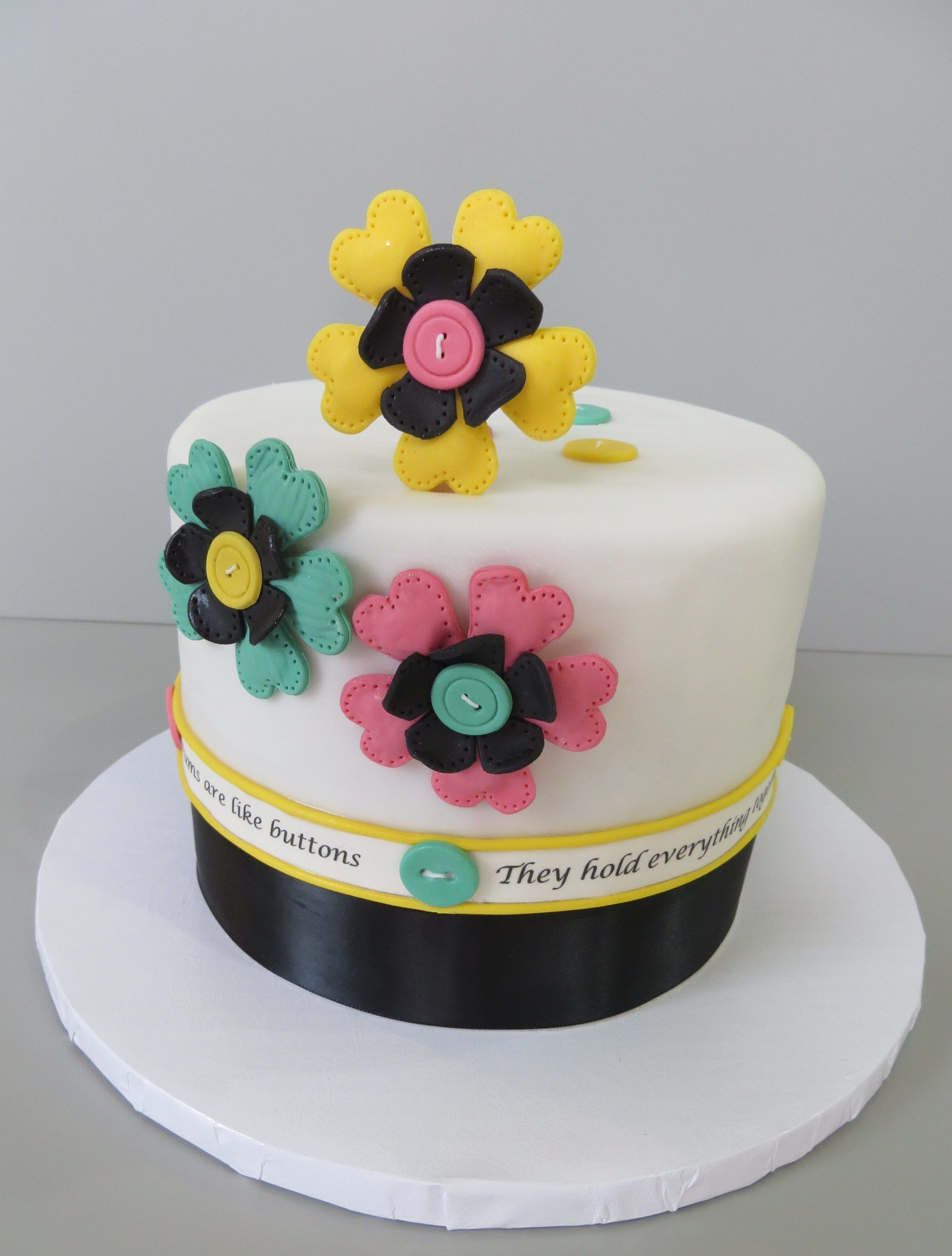 SAB Cakes!: Cute as a button Babyshower Cake