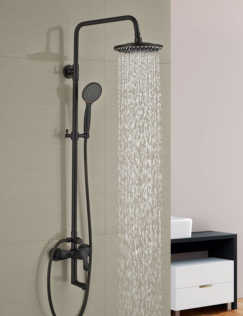 Wholesale And Retail Oil Rubbed Bronze Wall Mounted Shower Faucet ...