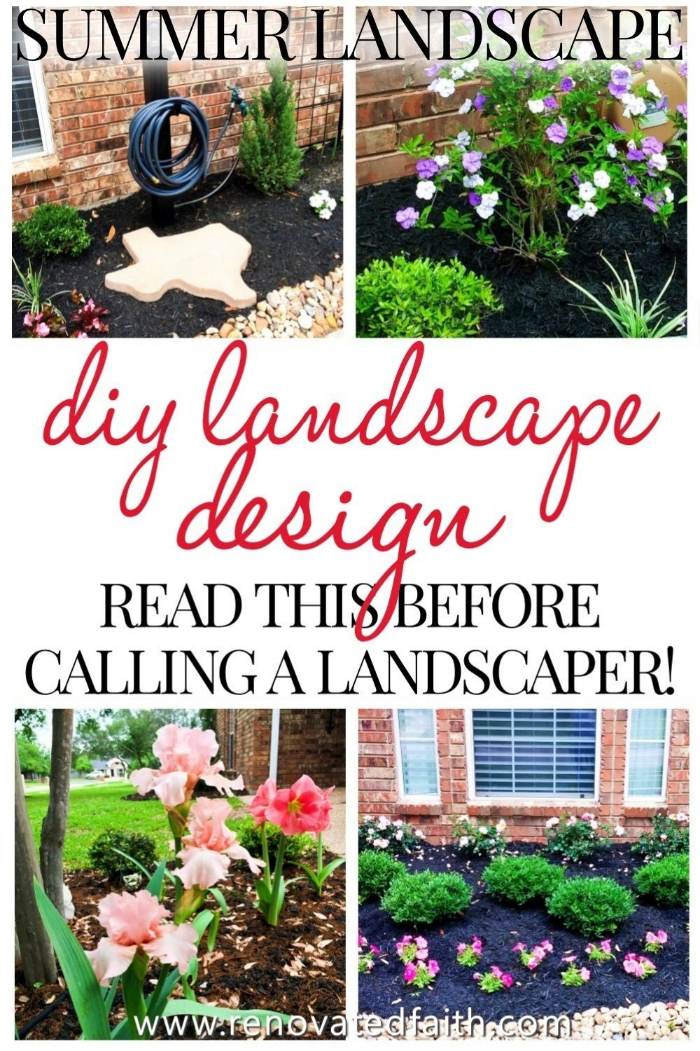 Simple Front Yard Landscaping Ideas On A Budget Diy Landscape Design In 2020 Yard Landscaping Simple Front Yard Landscaping Simple Diy Landscaping