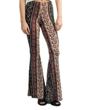 PRINTED JERSEY BELL-BOTTOM PANT