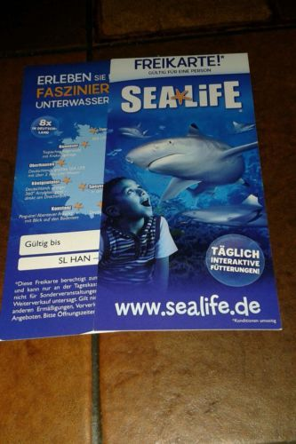 2 Sealifekarten!+Rabattgutscheine!sparen25 , sparen25de