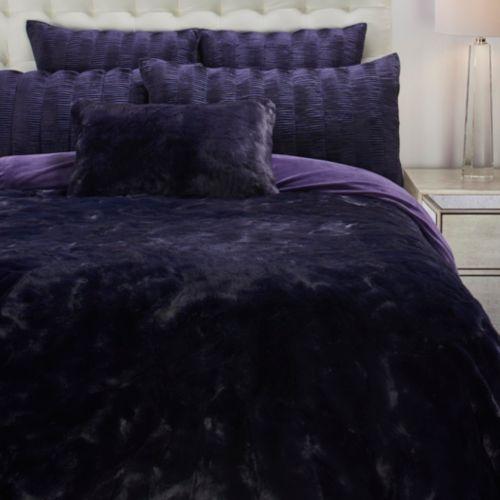 Geneva Blanket Collection Aubergine Blanket Affordable Modern Furniture Decor Furniture