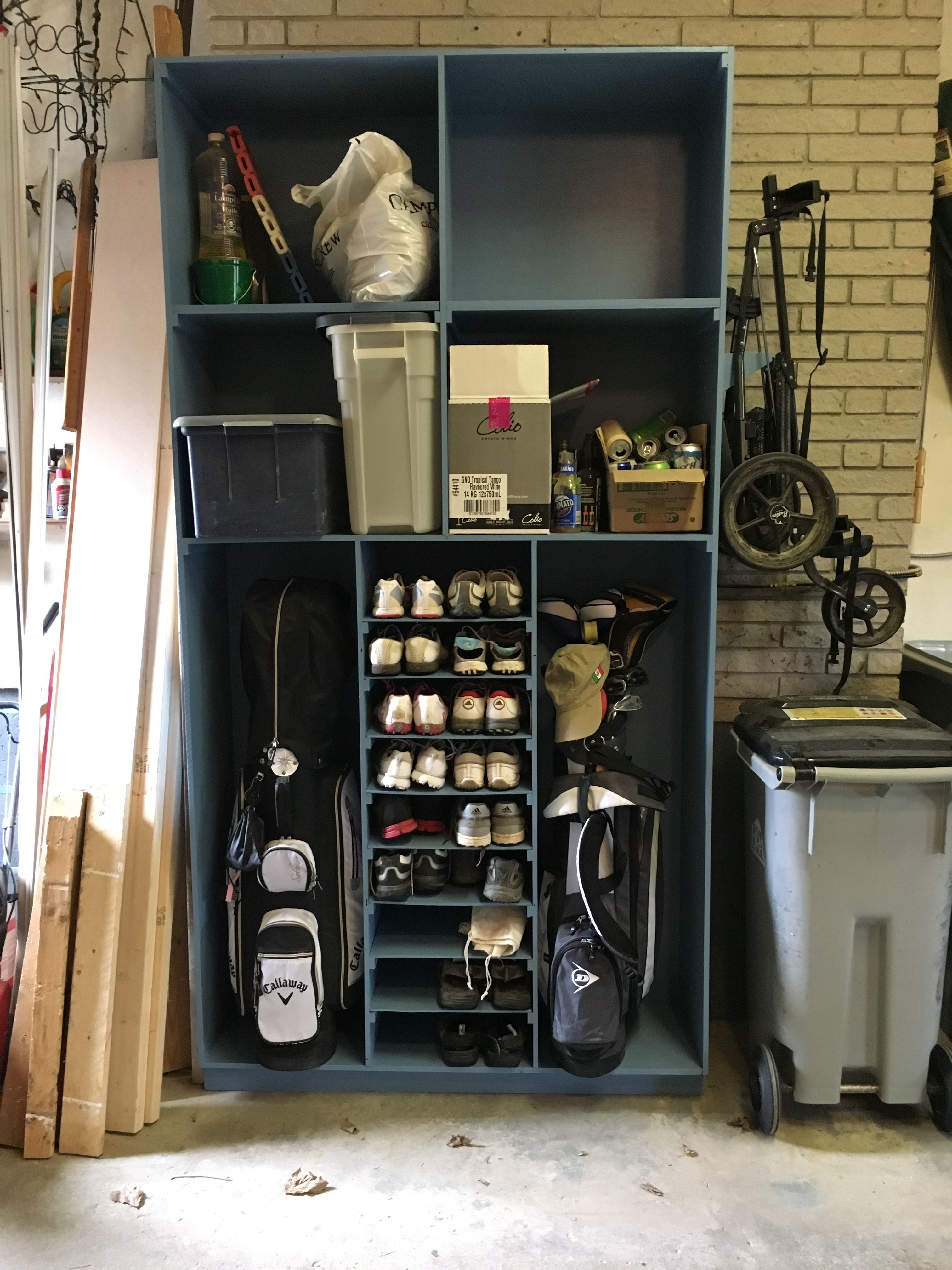 His And Hers Golf Cabinet Garage Storage Shelves Cabinet Storage Shelves