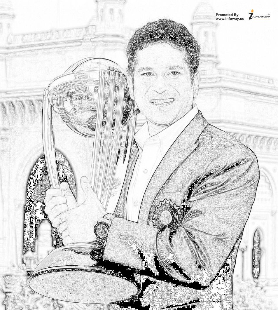 This sketch says all hard work pencil sketch sachin cricket