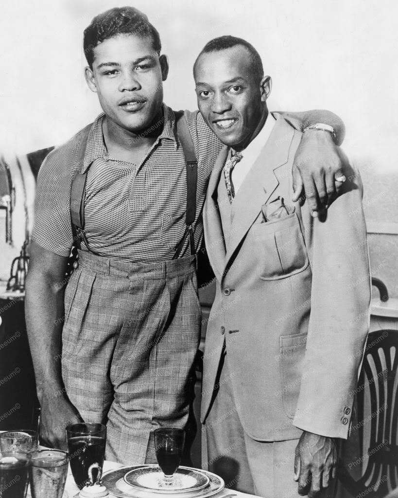 Boxer Joe Louis With Jesse Owens 1930s 8x10 Reprint Of Old Photo ...