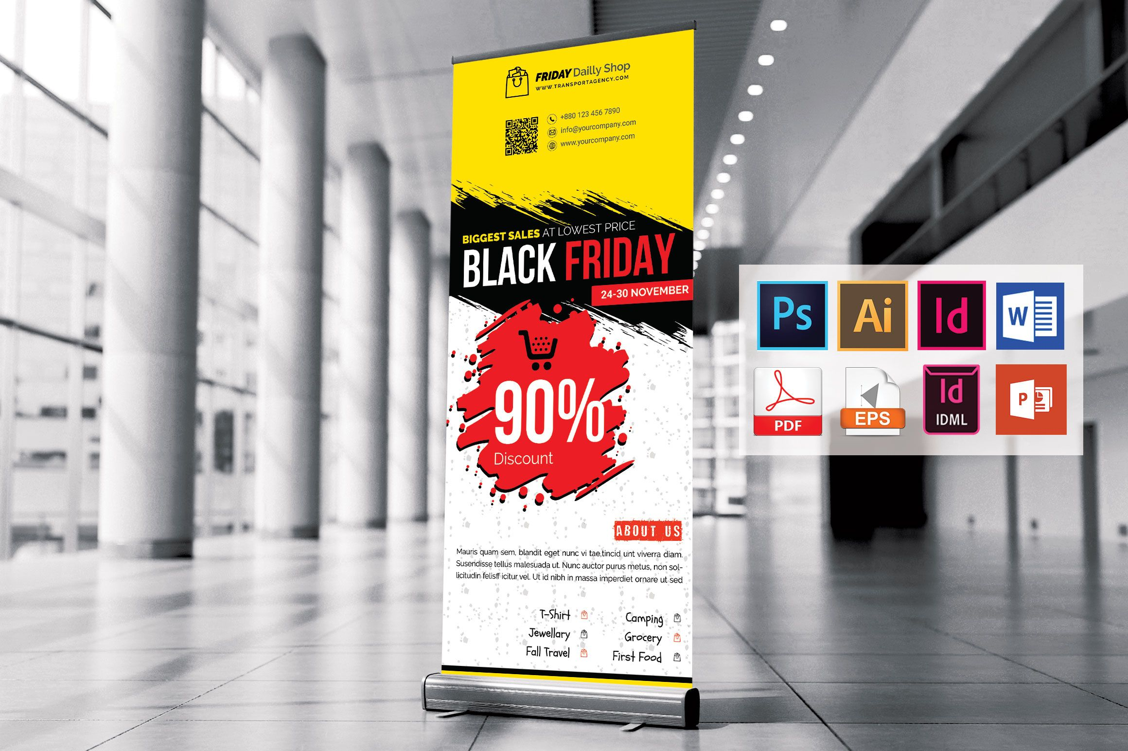 Black Friday Rollup Banner Vol 02 Graphic By Imagine Design Studio Creative Fabrica In 2020 Banner Sizes Black Friday Banner