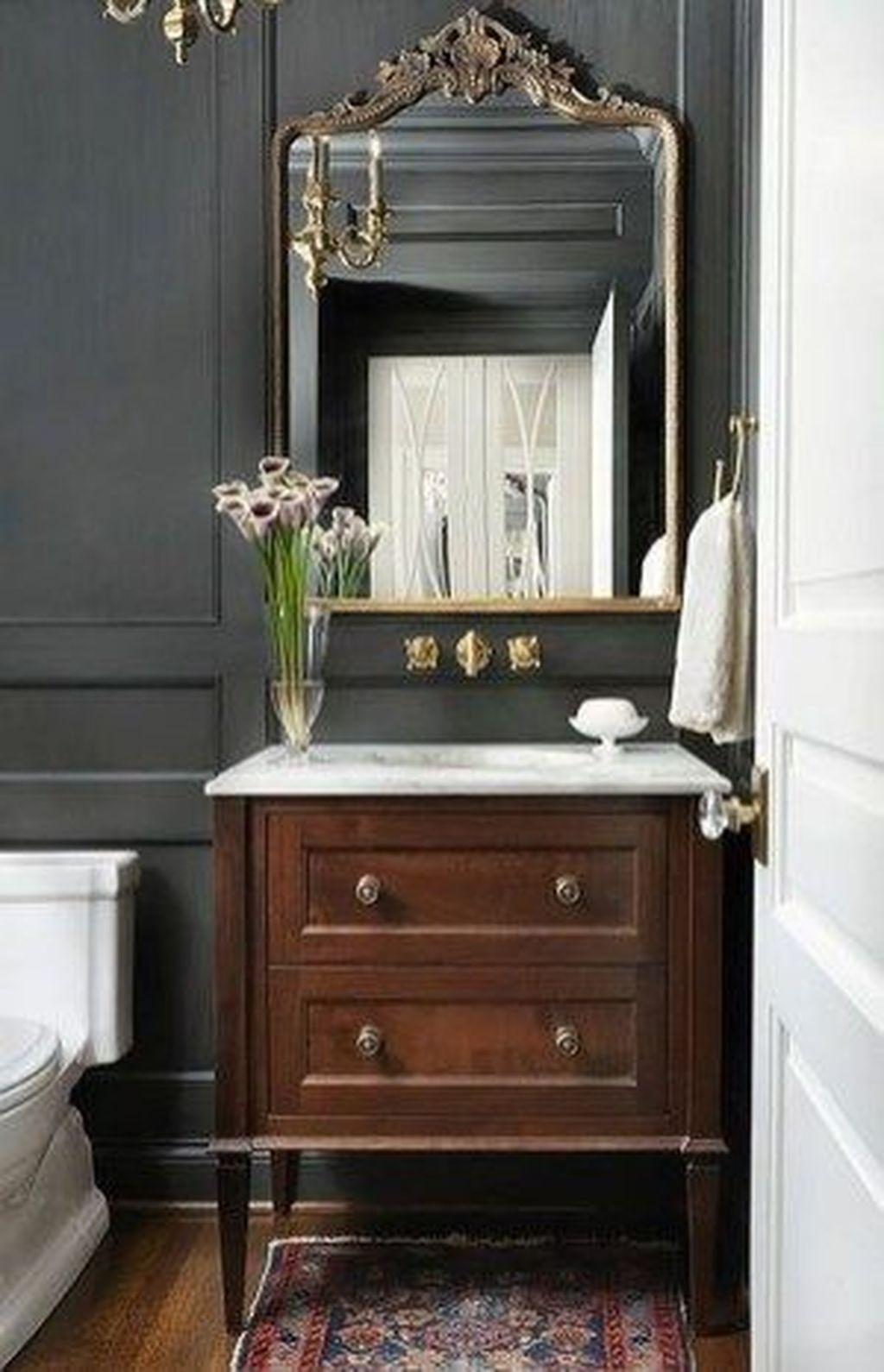 46 Beautiful Vintage Powder Room Ideas Powder Room Decor Powder