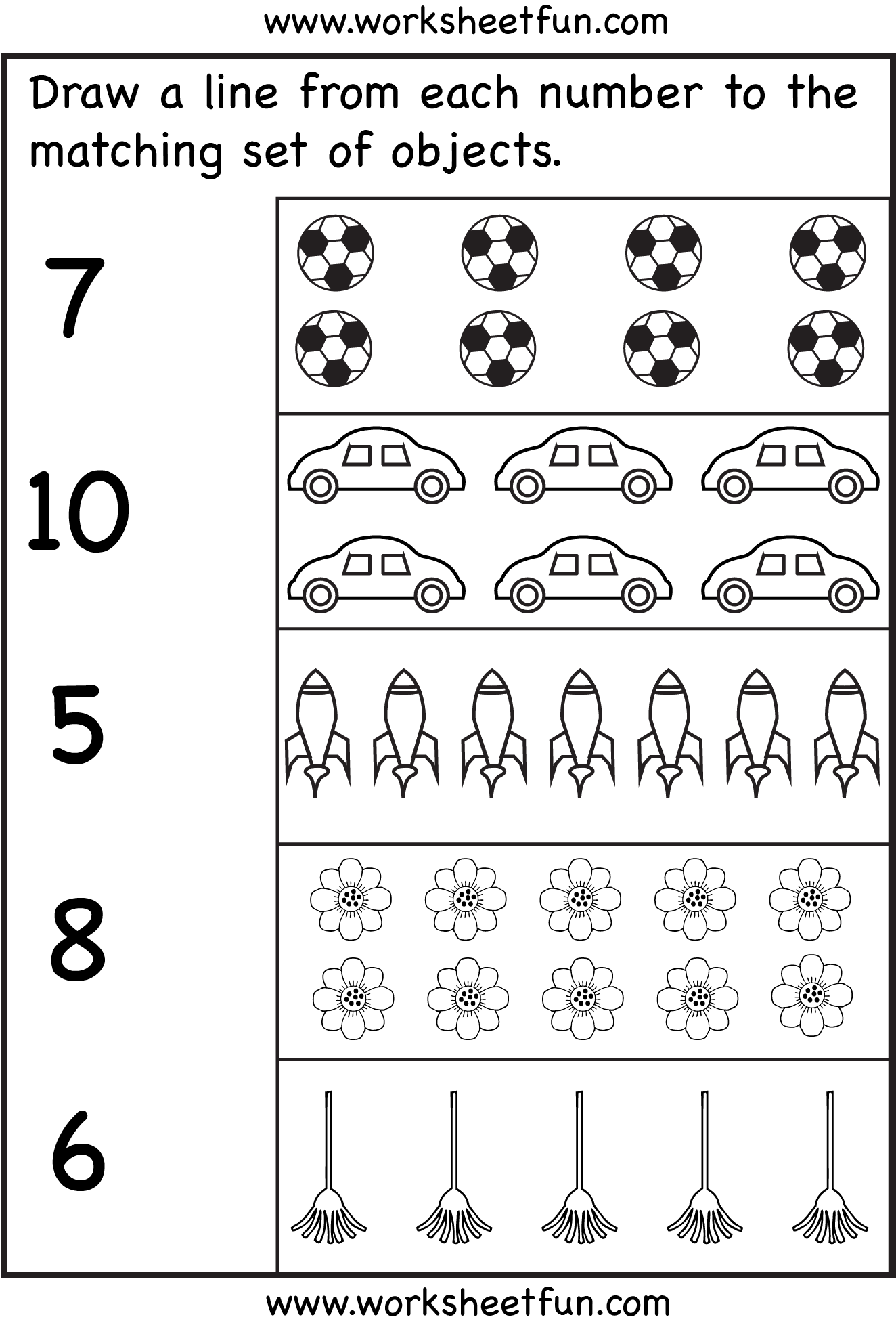 Counting - 6 Worksheets | Kindergarten Ideas | Pinterest ...