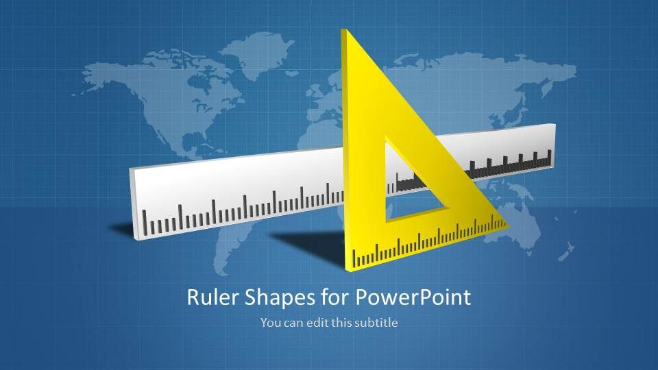 Ruler shapes for powerpoint template ruler shapes for powerpoint presentations with worldmap in the background toneelgroepblik