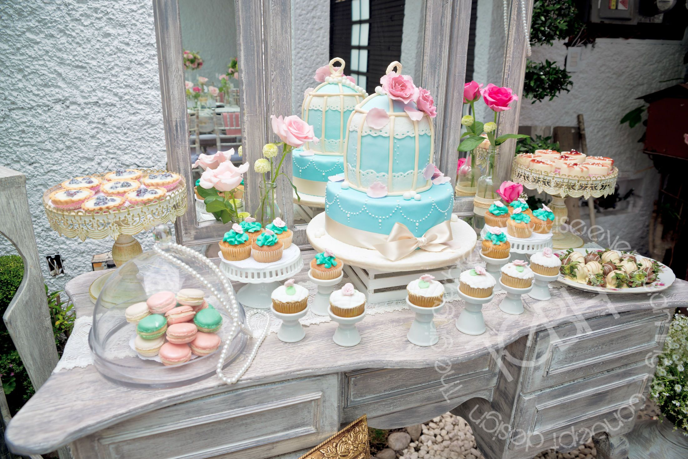 Shabby Chic Birthday Party, Shabby Chic Dessert Table