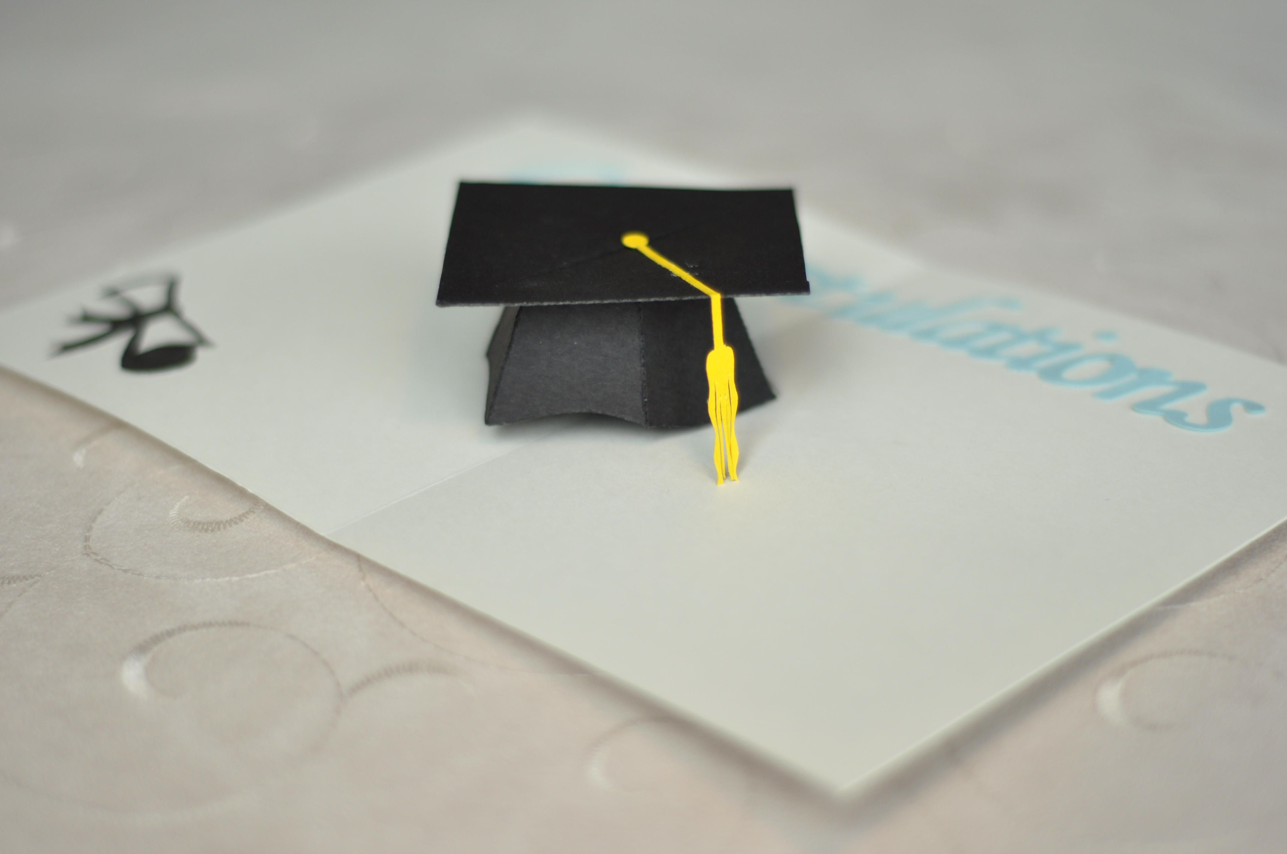 Graduation Pop Up Card 3d Cap Pop Up Cards Pop Up Card Templates Card Template
