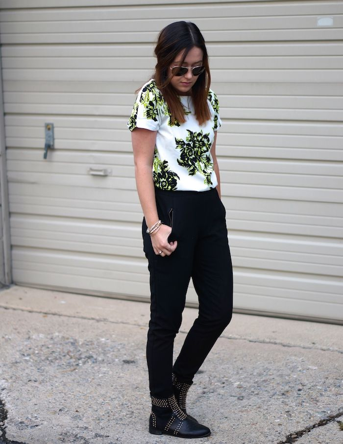 floral and black a great go to look