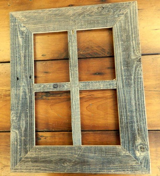 wide rustic reclaimed 5 x 7 or 8 x 10 barnwood window picture collage frame - Window Collage Frame
