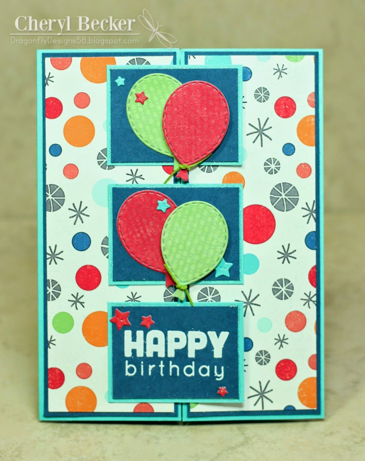 Gatefold card cards birthday pinterest dragonflies cards
