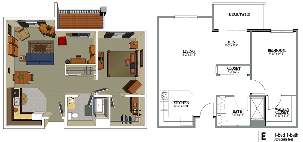1 bedroom 1 bath 700 sq png bild 1014 475 for 700 sq ft apartment design