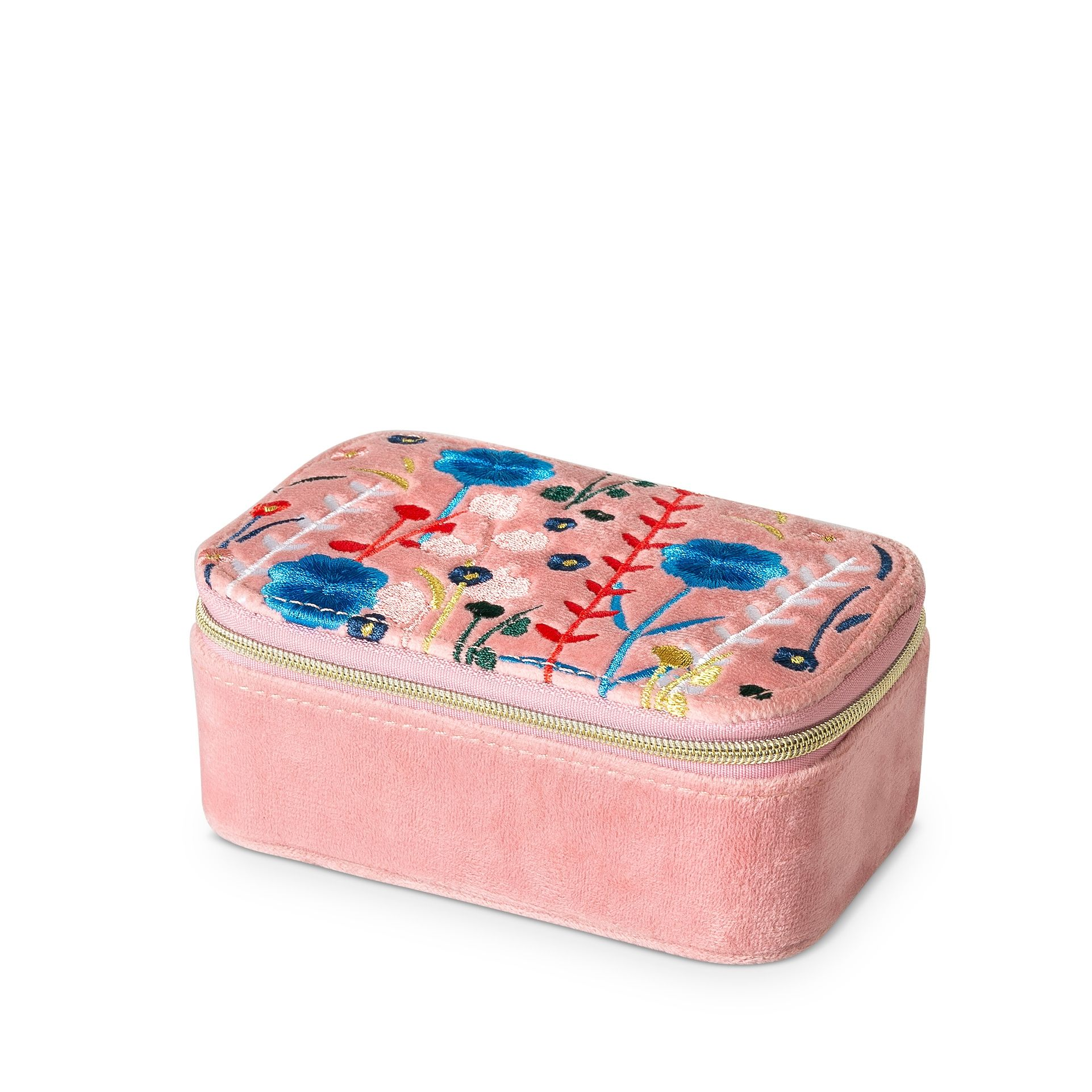 Buy The Hana Embroidered Travel Jewellery Box Small At Oliver Bonas