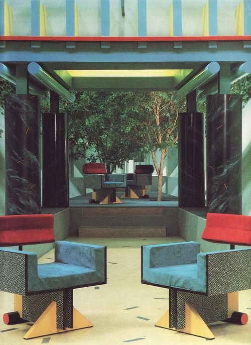 Interior design decoration postmodern interior 1980 39 s for 1980s furniture design